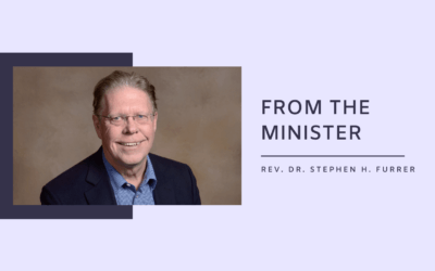 From the Minister: Returning to Church