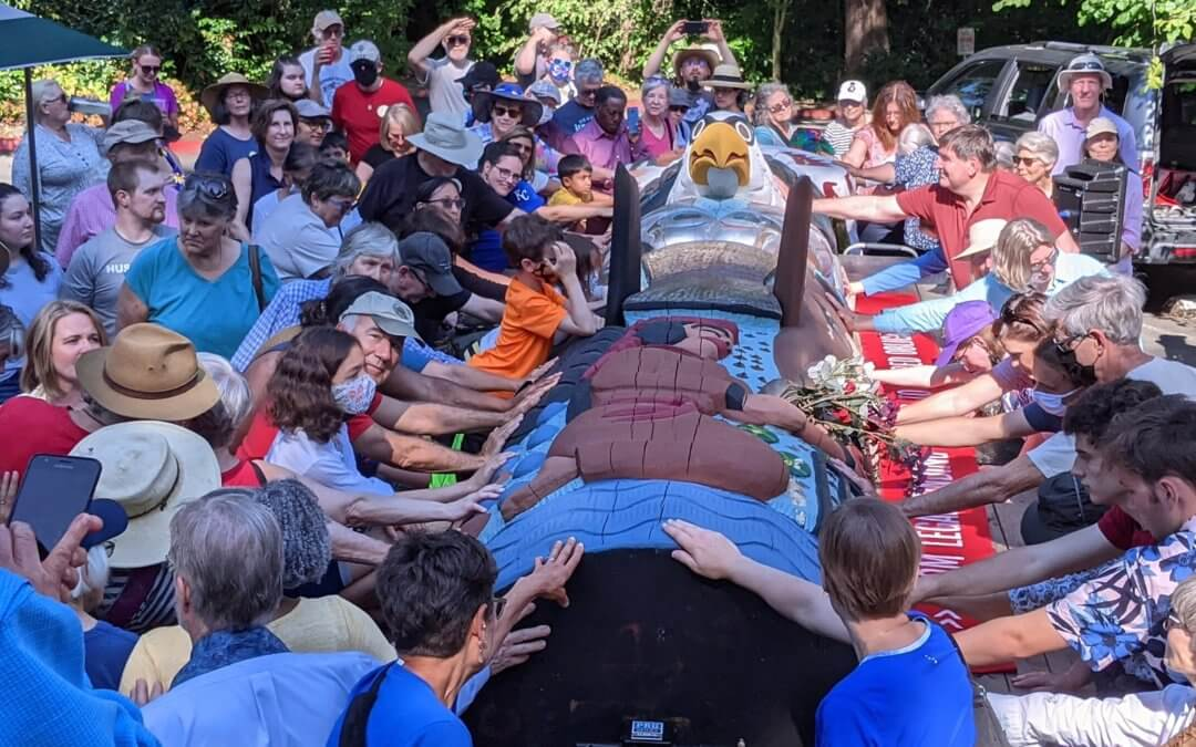 Red Road to DC Totem Pole Journey Blessing Celebration